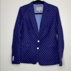 Nana Republic Polka Dot Blue & White Blazer Sz 8
